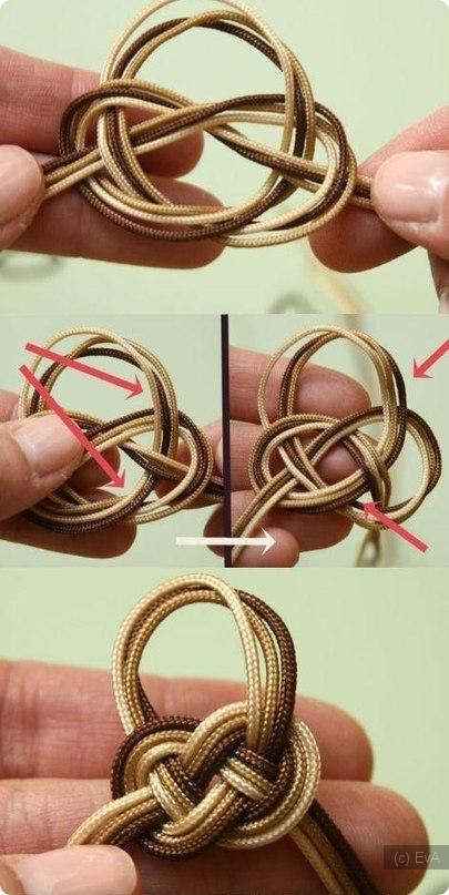 Как сделать красивый узел из веревки в виде сердца - HubertHaas