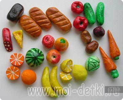 Сделать продукты своими руками для детского сада