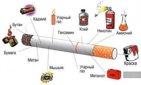 сигарета, вред табака, что мы вдыхаем при курении,