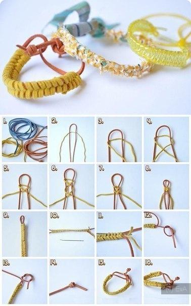 Схемы как сделать из резинок браслет