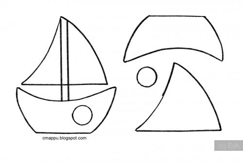 Корабль из фетра выкройки