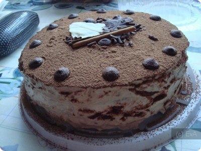 Как украсить торт какао порошком