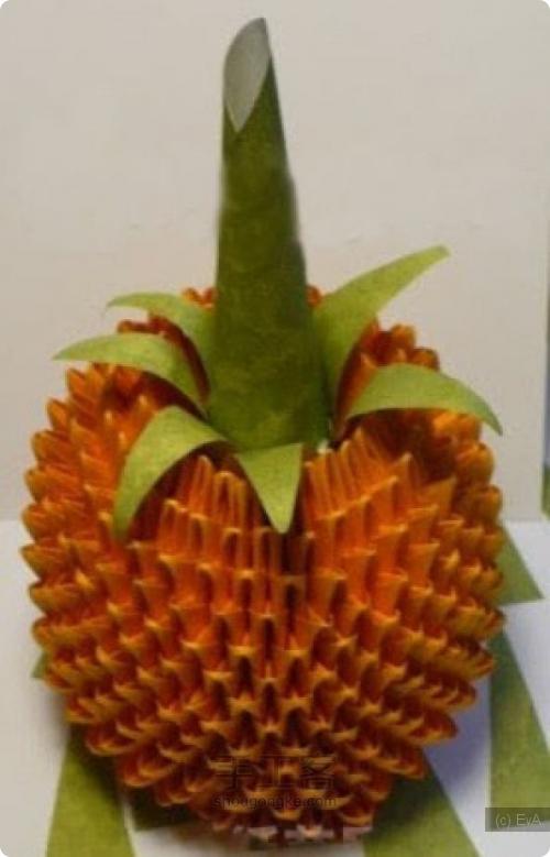 Как из бумаги сделать листья для ананаса