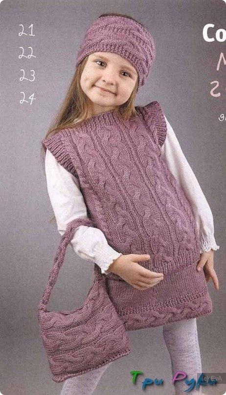 Вязать платье туника для девочки