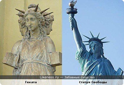 что изображает статуя свободы.