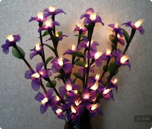 Цветы из капрона светильники как сделать