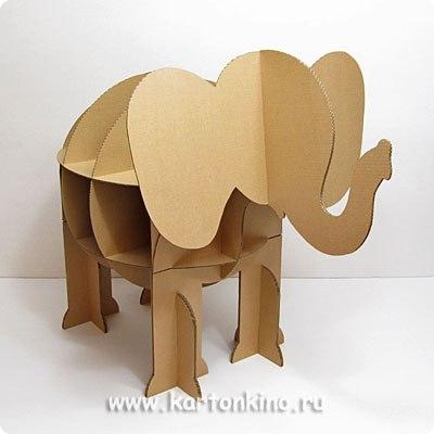 Как сделать слоника из картона своими руками