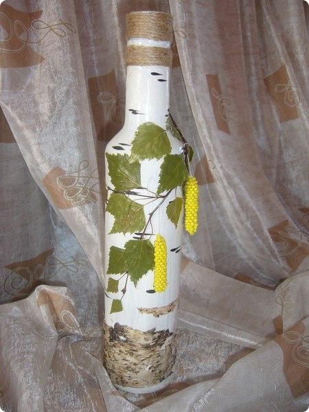 Декор бутылок как сделать