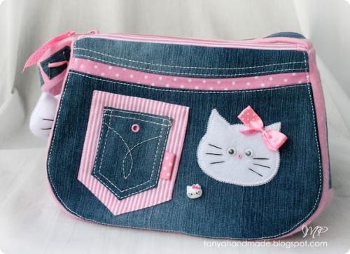Детская сумка из старых джинсов своими руками