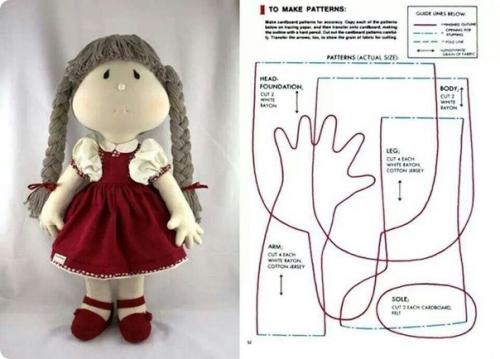 Рукоделие куклы из ткани