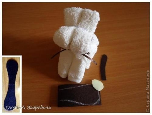 Как сделать собачку из полотенца своими руками 22