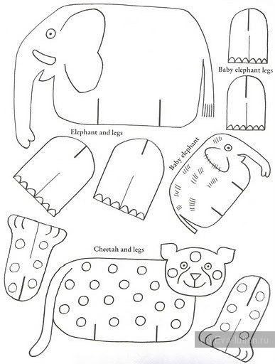 Животные из картона своими руками схема