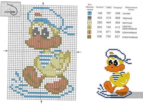 Схемы детских вышивок крестиком 32