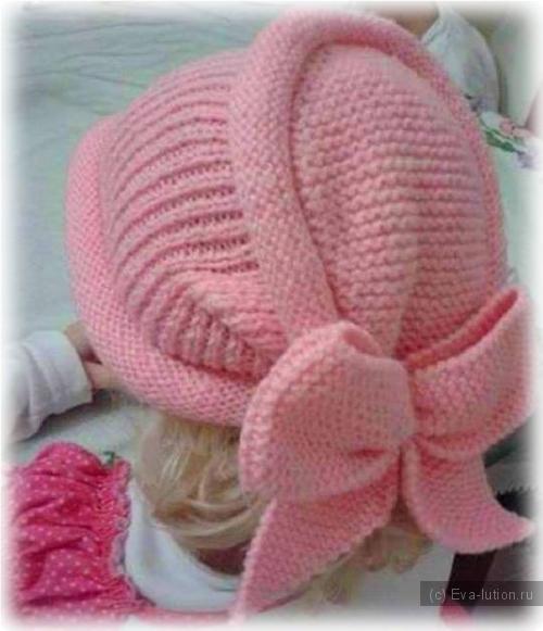 шапка платочной вязкой рукодельница Eva